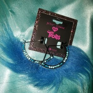 Betsey Johnson Trolls Blue Earrings
